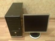 2-х ядерный компьютер  с монитором ЖК 17